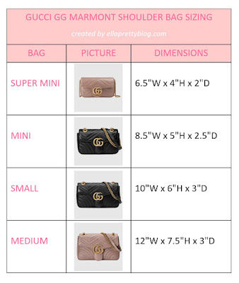 Comparing The Different Sizes Of The Gucci Gg Marmont Matelasse Shoulder Bag Ella Pretty Blog