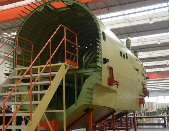 Pembangunan badan pesawat AG600