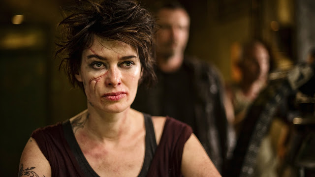 Dredd film still - Ma-ma played by Lena Headey