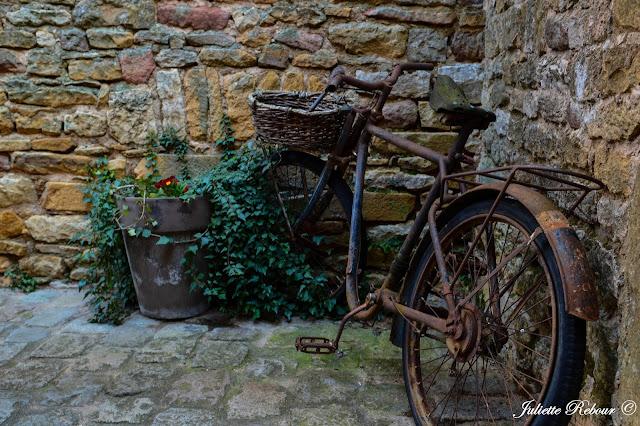 Vieux vélo, Oingt, Beaujolais