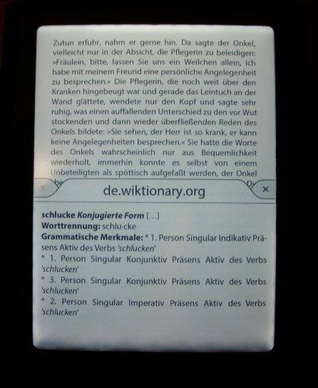 Cybook Odyssey HD Frontlight  - działanie słownika