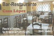 BAR RESTAURANTE CASA LÓPEZ