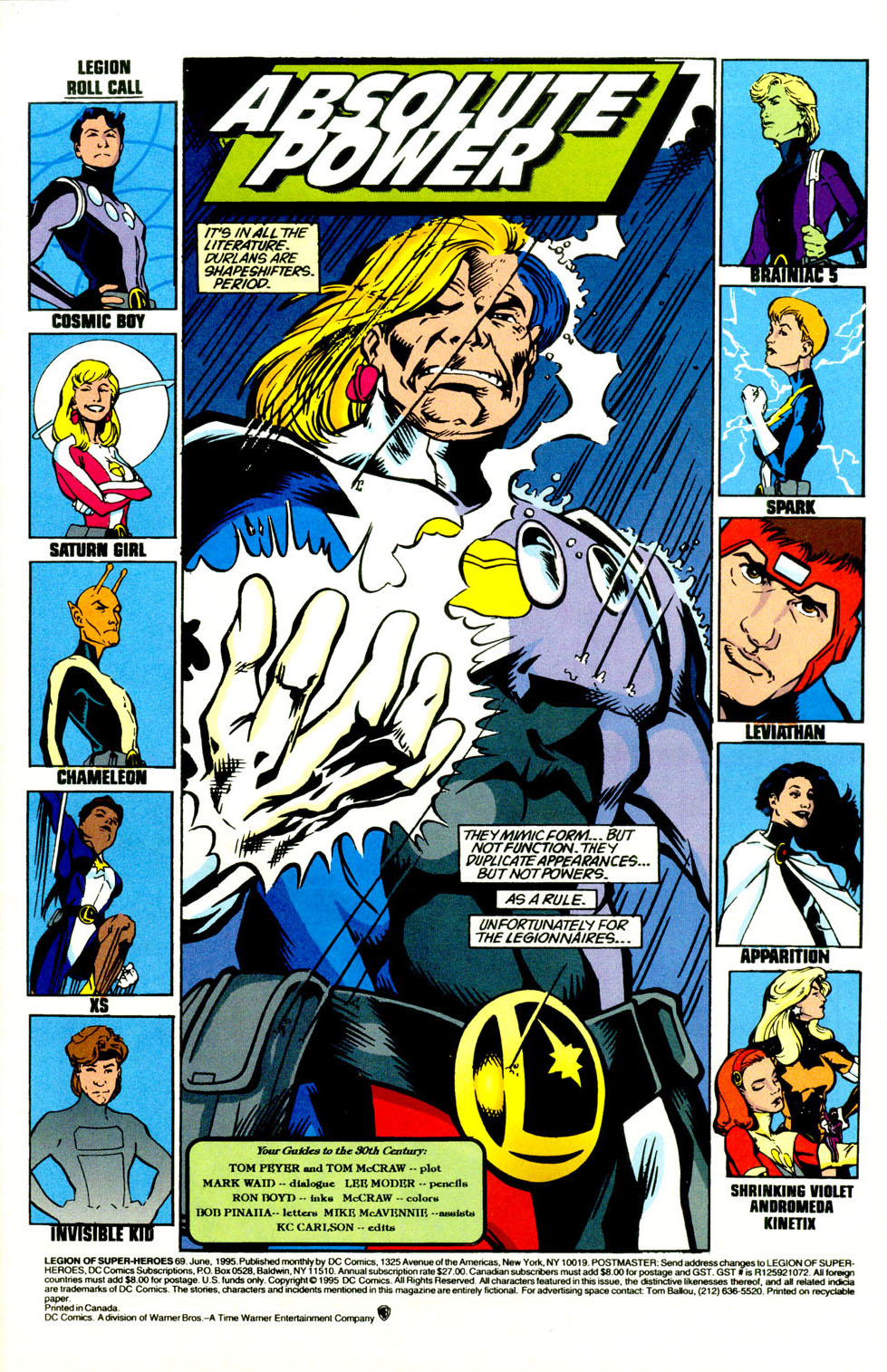 Legion of Super-Heroes (1989) 69 Page 1