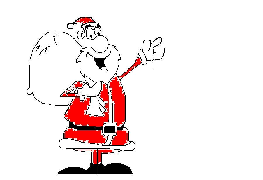 Ignite Dreams : Step to draw Santa claus in MS Paint