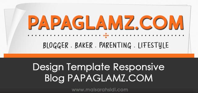Design Template Responsive Blog Papaglamz.com