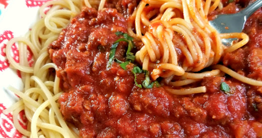 Homemade Spaghetti with Meat Sauce