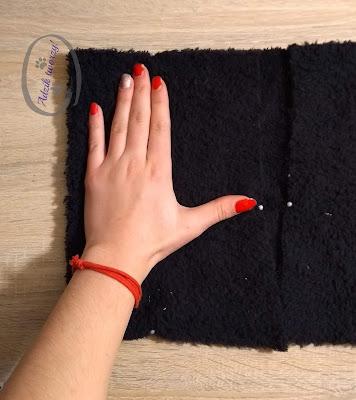 Adzik tworzy - szycie diy rękawiczki wykrój