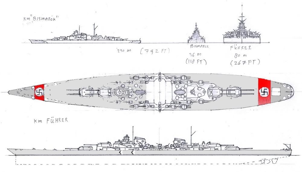 weapons around the world german super battleship der f hrer. Black Bedroom Furniture Sets. Home Design Ideas