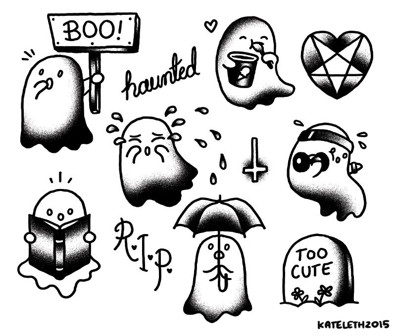tatuaje de fantasmita