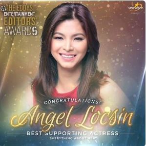 Angel Locsin Won As Best Supporting Actress At The Very First Eddy's Awards 2017!