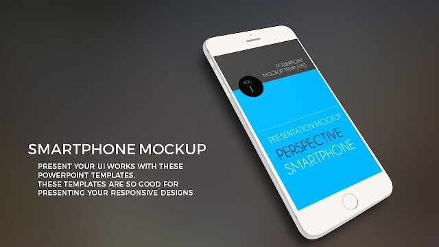 Premium Smartphone Powerpoint Mock-up Templates Slide1