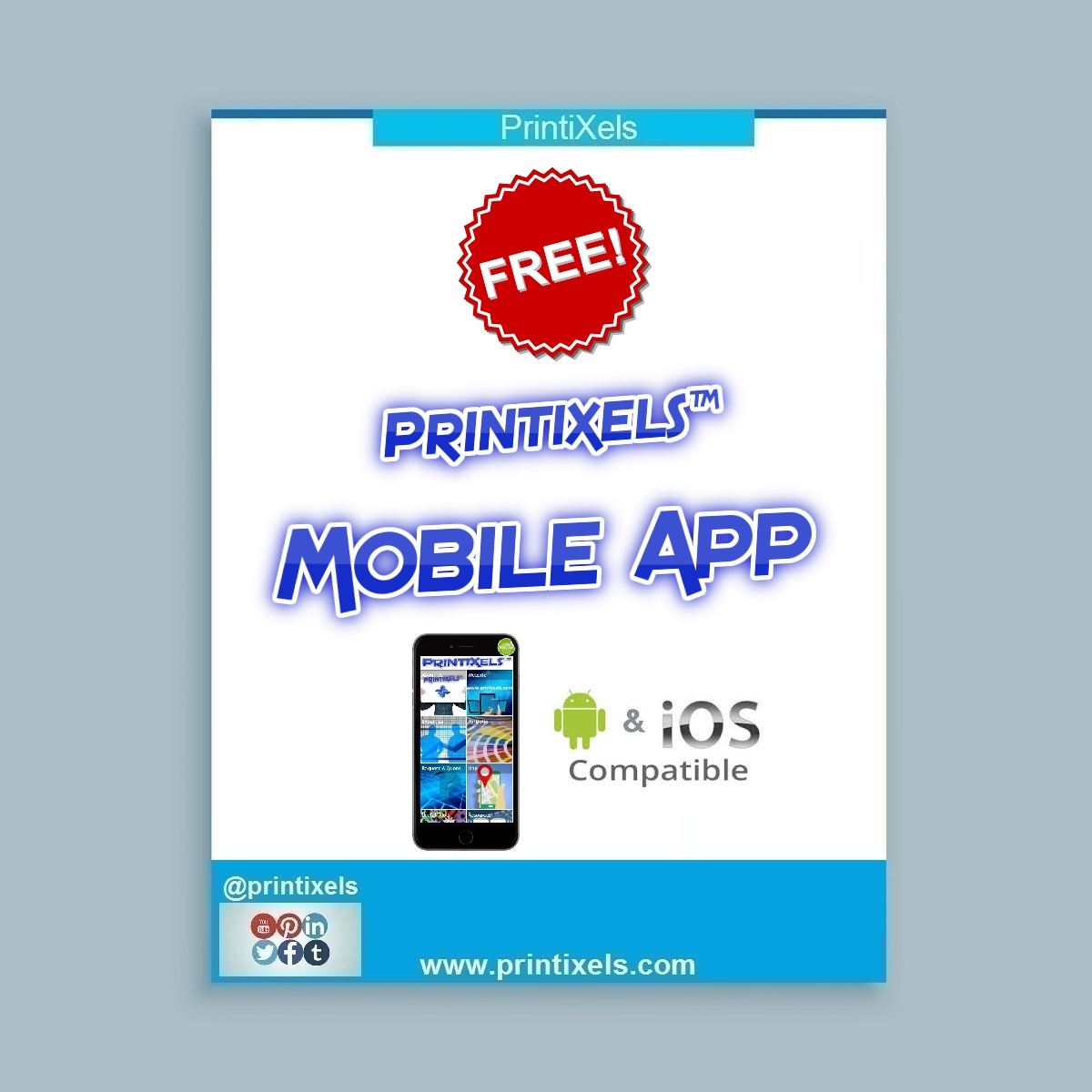 Free Printixels Mobile App Launched