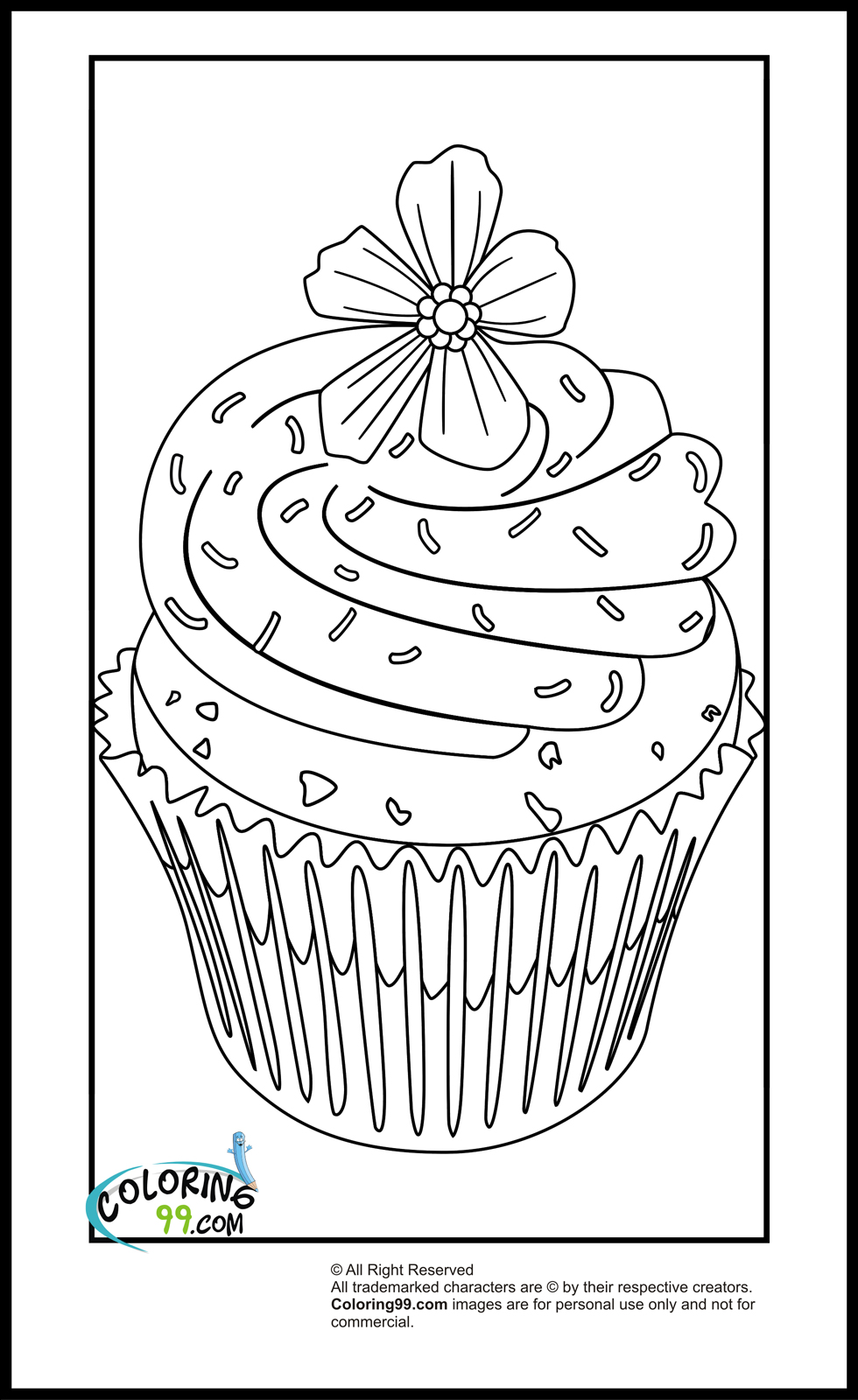 Cupcake Coloring Pages | Minister Coloring