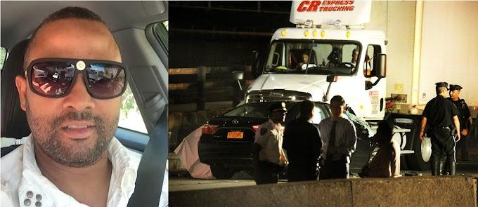 Taxista dominicano muere decapitado y pasajera herida  al estrellarse contra camión  en  autopista de El  Bronx