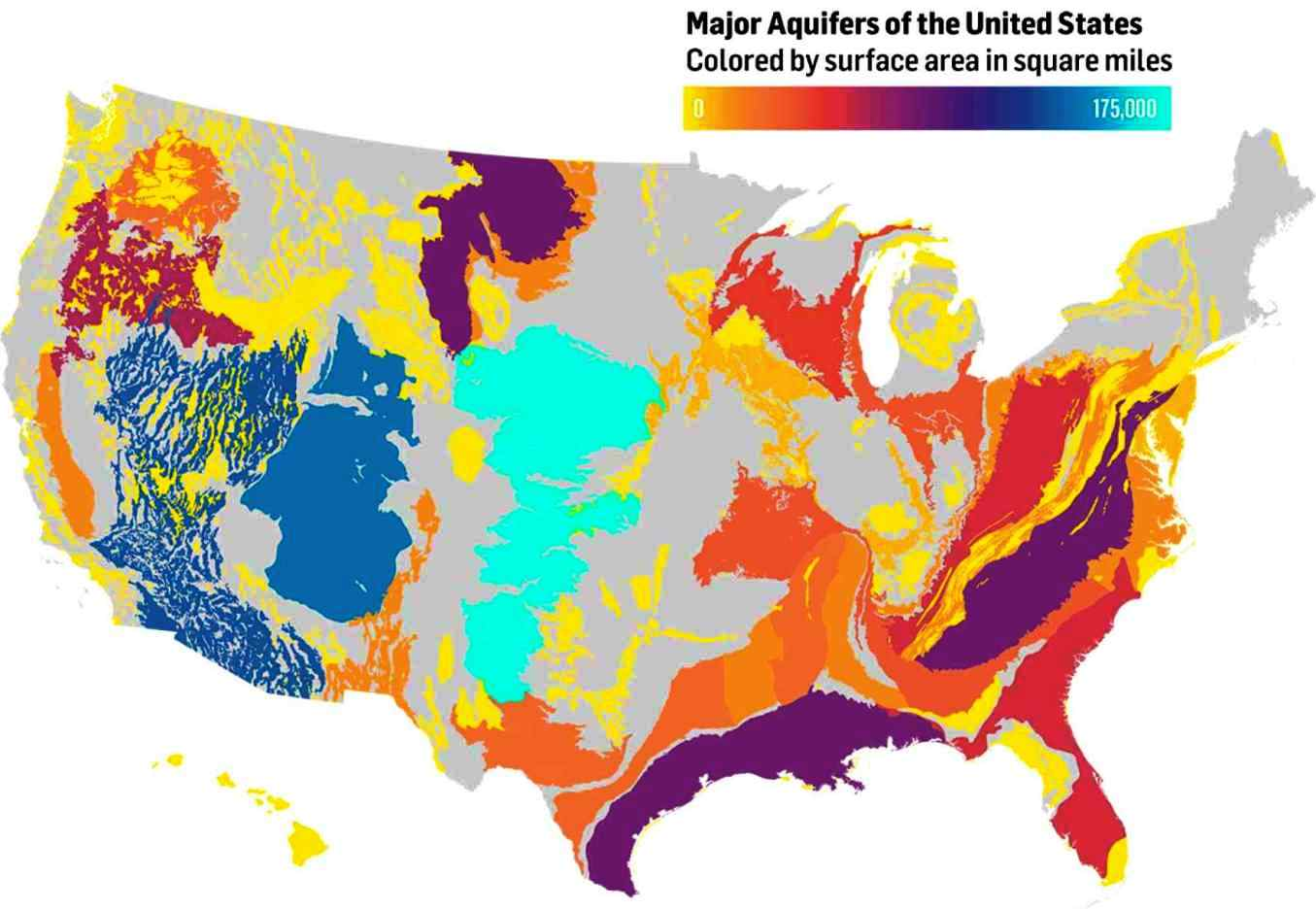 How Climate Change Will Mess With Water Recharge In Western USA - Map of aquifers in us