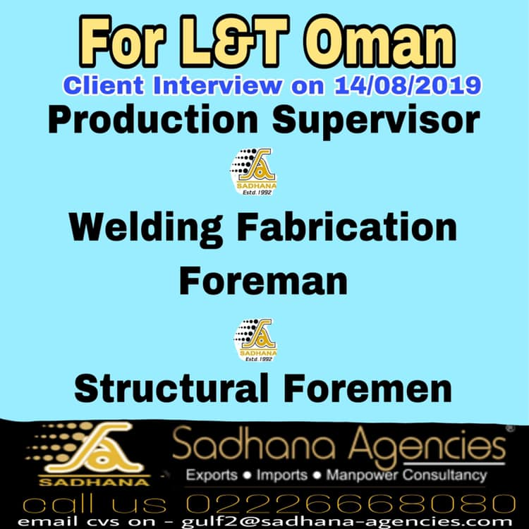 Required for L&T in Oman