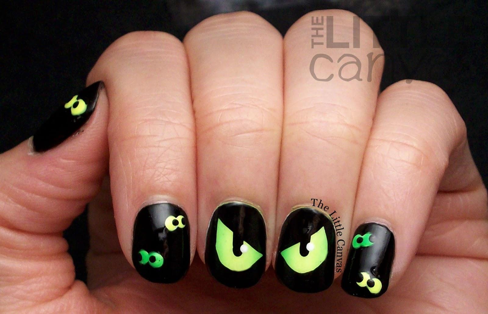 Spooky Eye Nail Art The Little Canvas