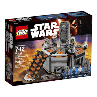 Han Solo in carbonite Lego Set