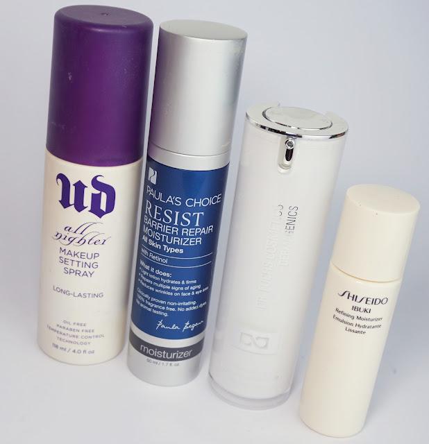 Aufgebrauchte Kosmetik - Jänner 2017 Urban Decay, Paula's Choice, Dr. Fuchs, Shiseido