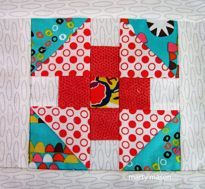 Puss In The Corner quilt block for my Gypsy Wife quilt - marty mason