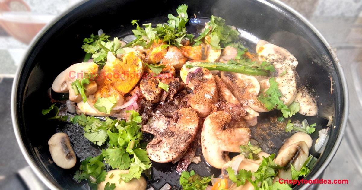 Mushroom Fry | Mushroom Dry Recipes