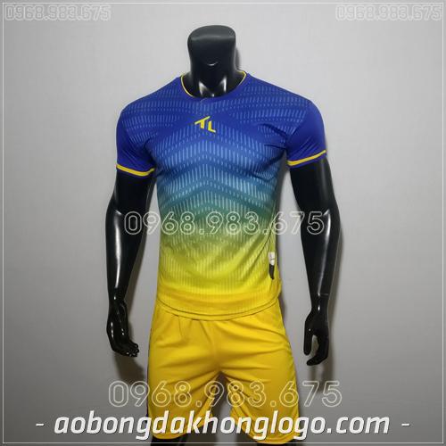 Áo bóng đá không logo TL Rius màu xanh đậm