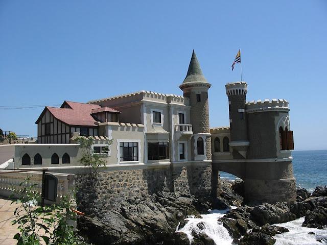 Passeio romântico no Castillo Wulff em Viña del Mar