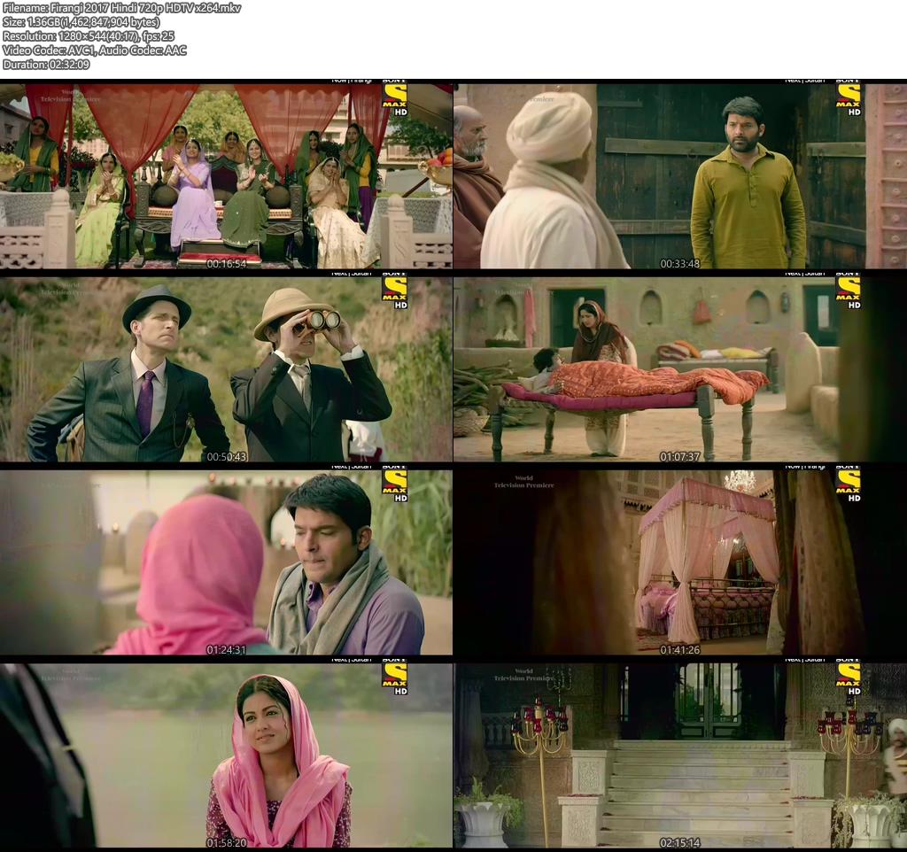 Firangi 2017 Hindi 720p HDTV x264 | 480p 300MB | 100MB HEVC Screenshot
