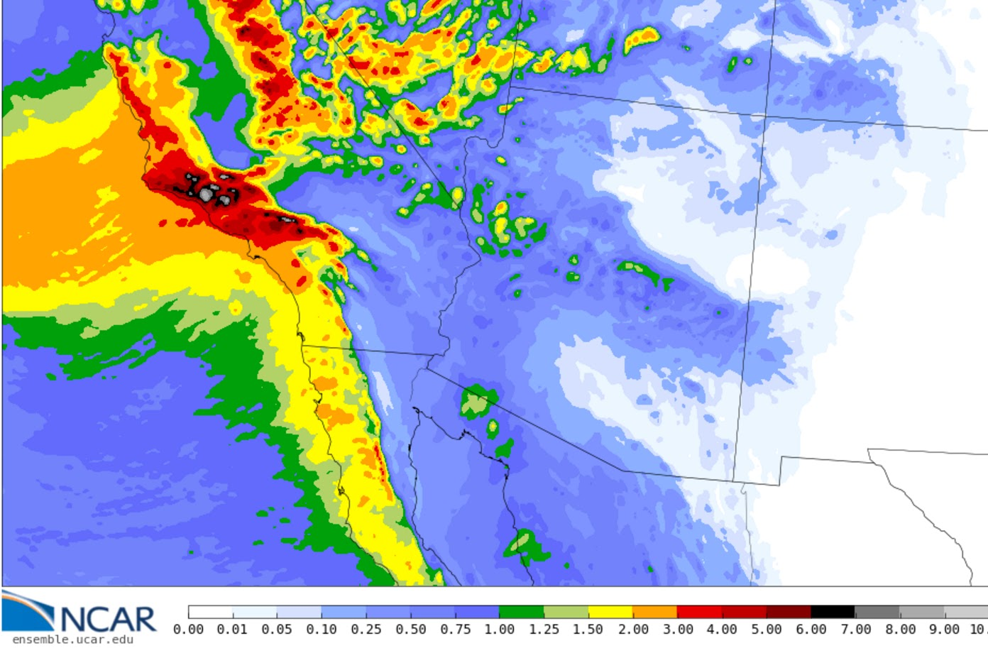 Weather Southern California Map.Cliff Mass Weather And Climate Blog Northwest Weather Hits Southern