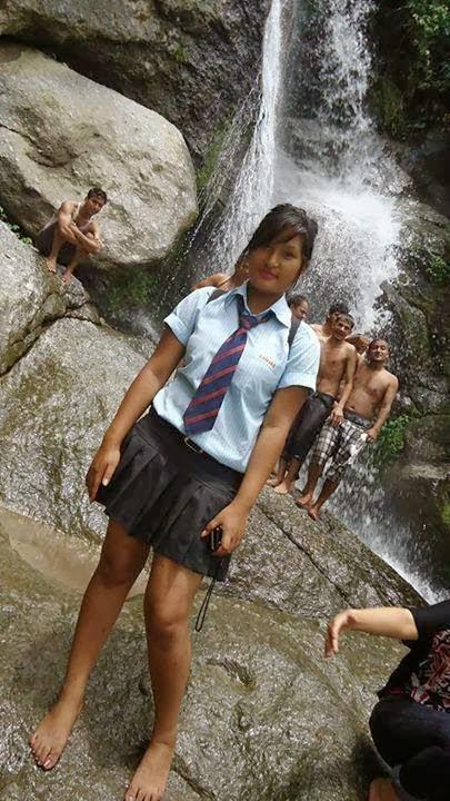 Girls naked in school