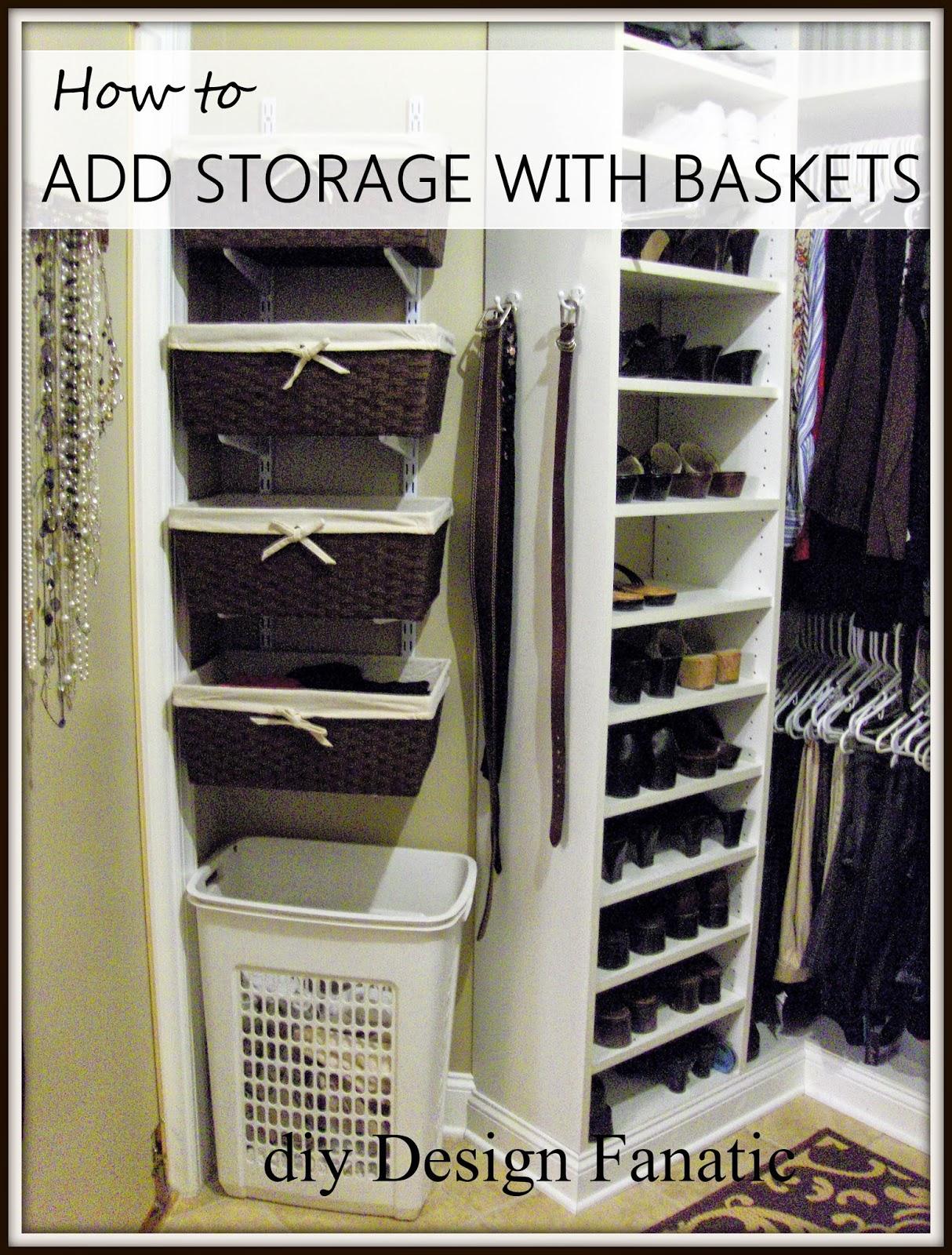 Attirant Track Bracket, Baskets, Master Closet, Organization, Storage Shelves, Add  Space To