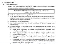 Proses Seleksi CPNS Kemendikbud Tahun 2017