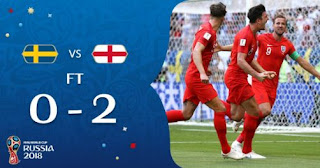 Swedia vs Inggris 0-2 Video Gol Highlights