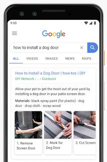 Screenshot della ricerca per cellulari che mostra come installare una gattaiola