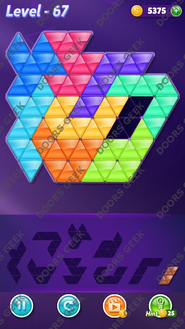 Block! Triangle Puzzle Proficient Level 67 Solution, Cheats, Walkthrough for Android, iPhone, iPad and iPod