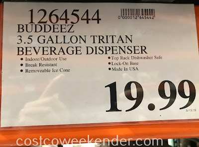 Deal for the Buddeez Tritan Beverage Dispenser at Costco