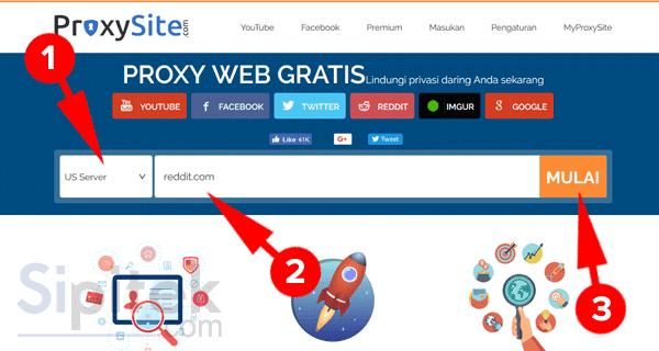 membuka situs yang diblokir dengan web proxy