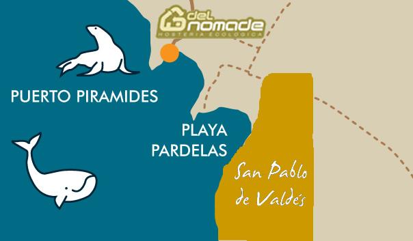 Mapa mostrando Fundación Vida Silvestre, Reserva San Pablo de Valdés