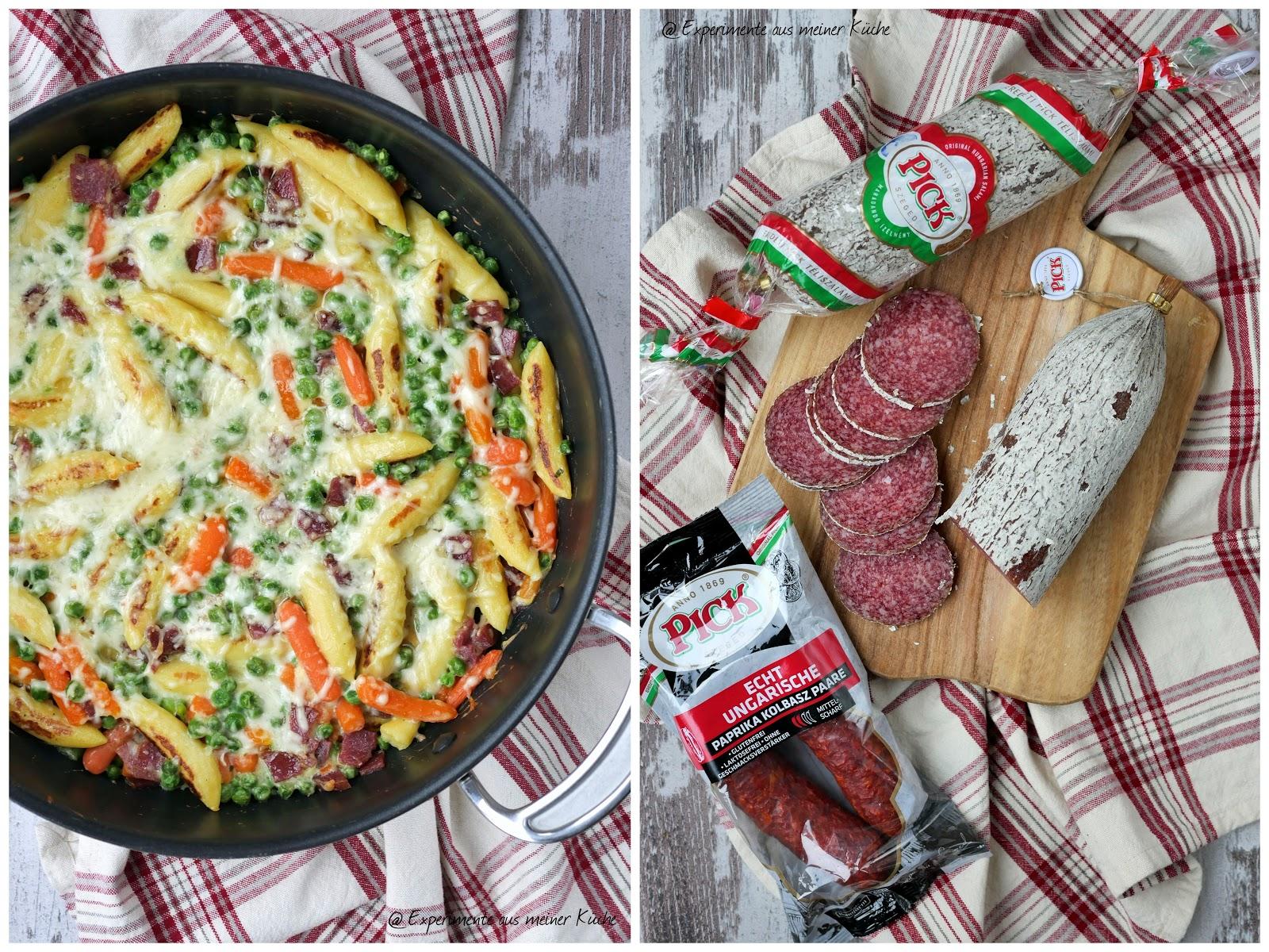 Experimente aus meiner Küche: Schupfnudel-Salami-Gratin