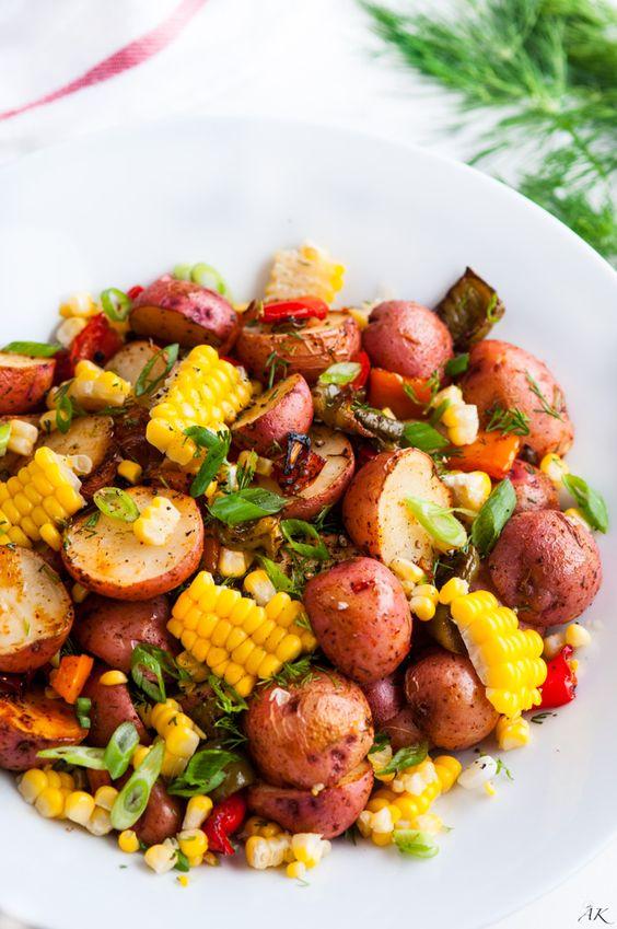 SOUTHWEST ROASTED POTATO SALAD #southwest #roasted #potato #salad #saladrecipes  #vegan #veganrecipes #veggies #vegetarianrecipes