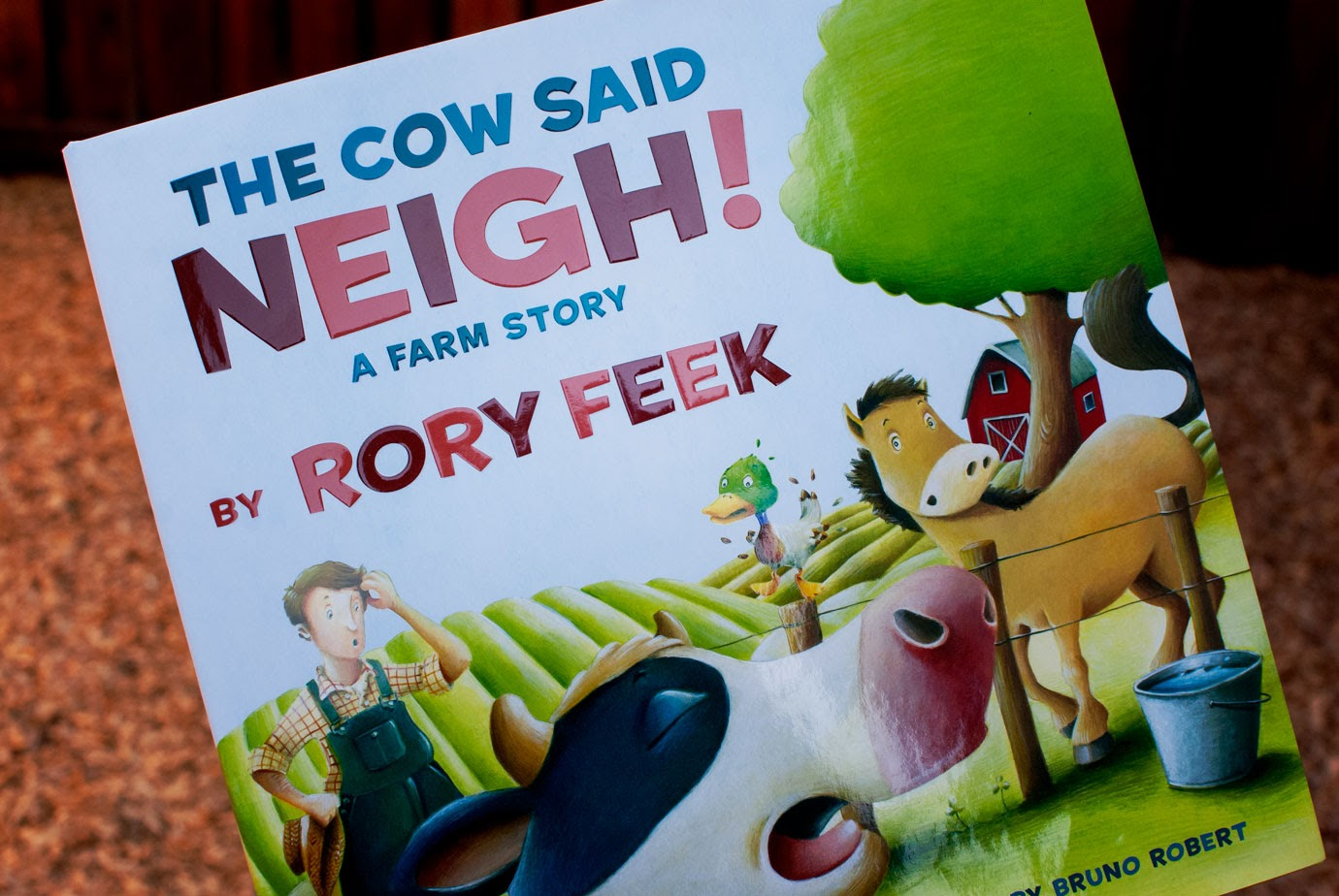 The Cow Said Neigh! Front of Book Cover