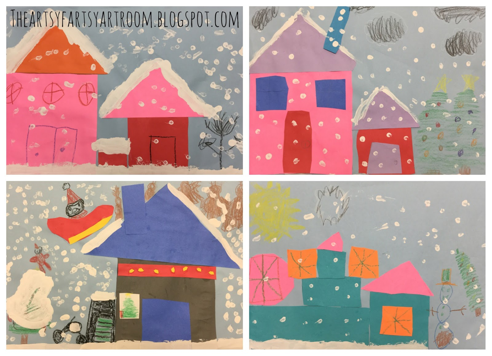 The artsy fartsy art room winter shape architecture 2016 for Different shapes of houses