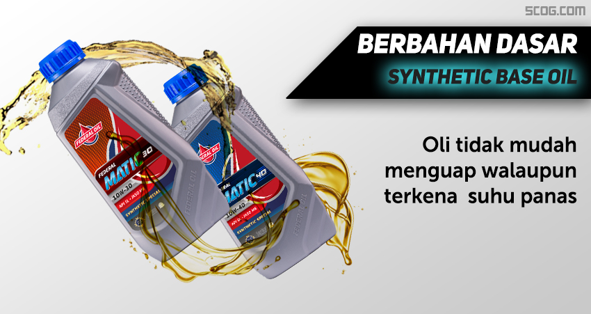 Berbahan dasar Synthetic base oil