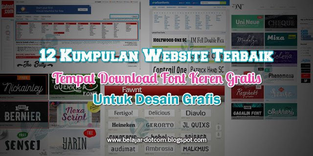 12 Kumpulan Website Terbaik Tempat Download Font Keren Gratis Untuk Desain Grafis