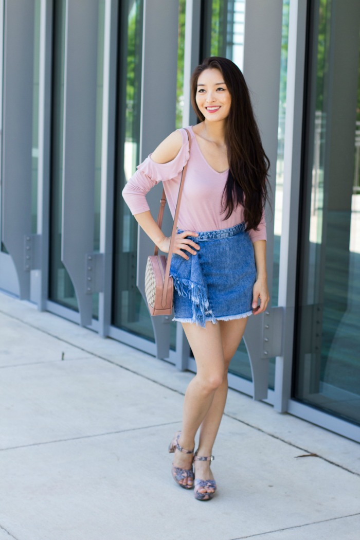 cute denim skirts