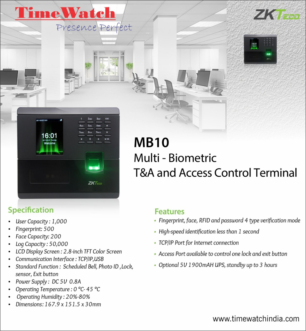 Biometric and Access Control Technology: Benefits for Time