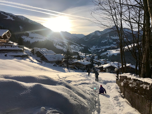 Skiing in Alpbach, Austria by Dawn B. LeroyLime