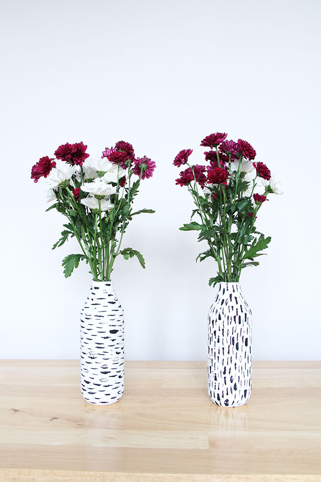 Simple flower vase makeover