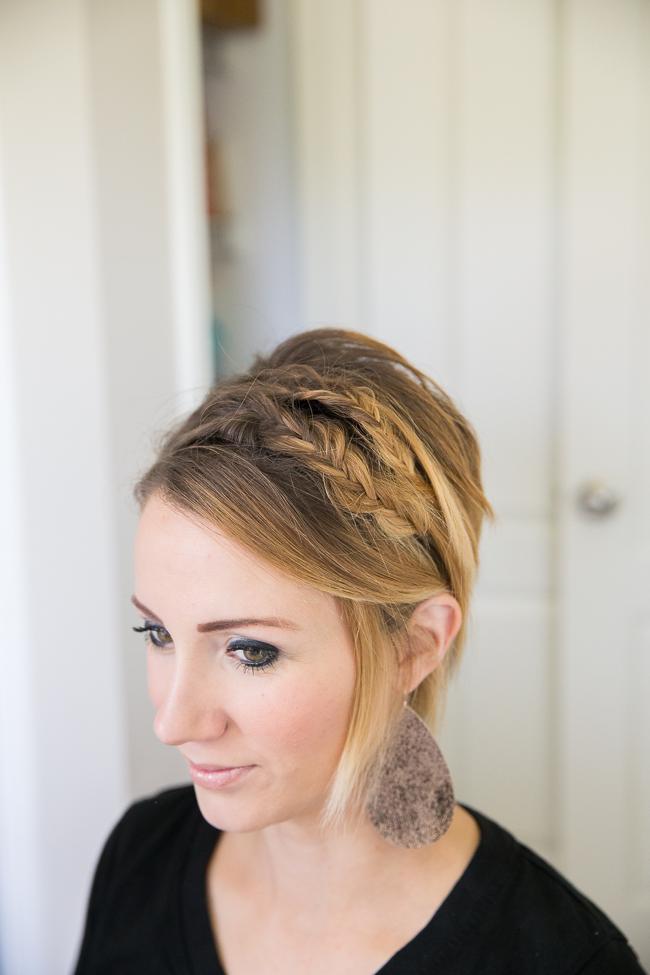 Double Fishtail For Short Hair Easy Bob Or Long Pixie Tutorial
