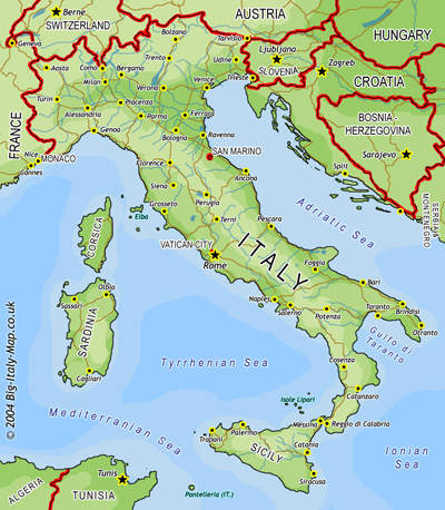 Google Maps Europe Map Of Italy Country Area